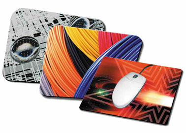 Black Base Mouse Pads (5mm Thick)