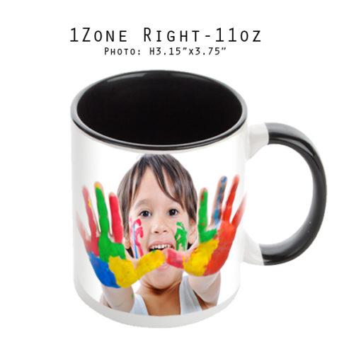 Mugs 11 oz White/Black Printed Right - Eimpression.ca