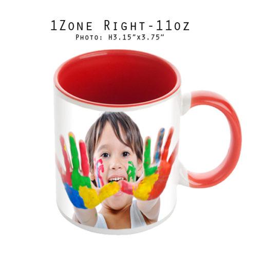 Mugs 11 oz White/Red Printed Right - Eimpression.ca