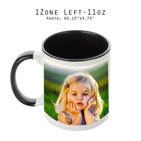 Mugs 11 oz White/Black Printed Left- Eimpression.ca