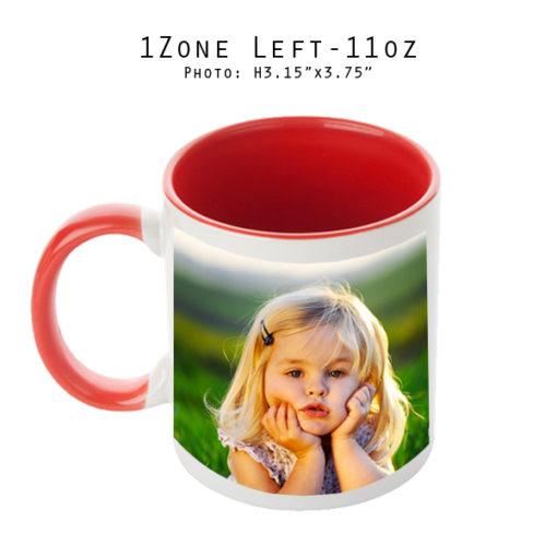 Mugs 11 oz White/Red Printed Left- Eimpression.ca