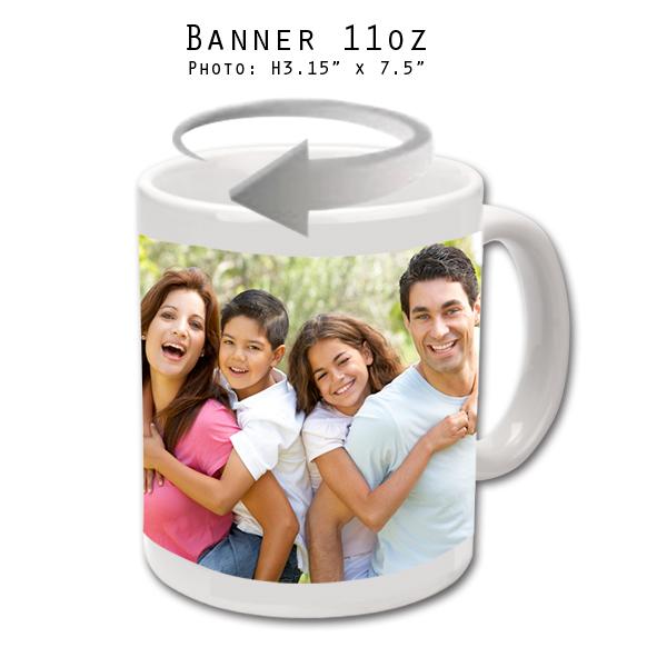 Mugs 11 oz White Banner - Eimpression.ca