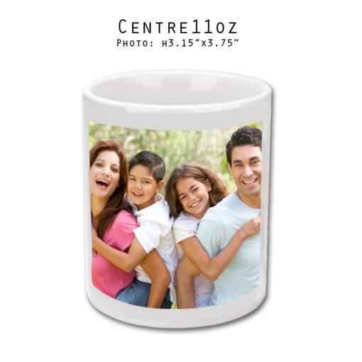 Mugs 11 oz White Printed Center - Eimpression.ca