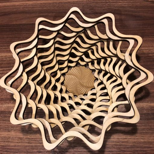 Wooden Bowl - Basket laser cut and engraving
