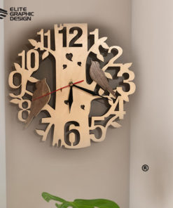 LCL0001-Clock-Antique+Oval+Cercle+Wall+ClockD