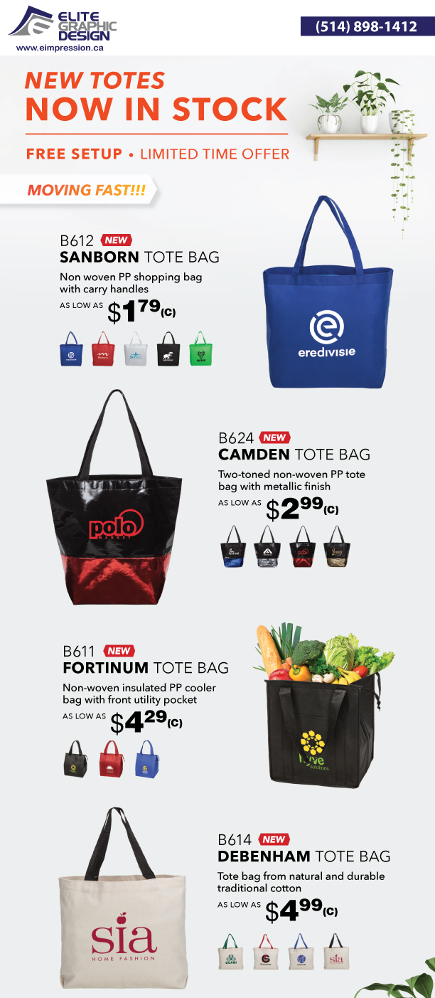 New Totes - Promo Products - Bag Camden - Fortinum - Sanborn