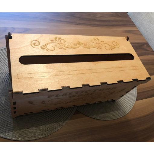 LWRAP001 Distributeur de pellicule plastique rechargeable en bois