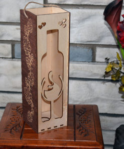 L2050--Hande Made Christmas Elegant Wine Box