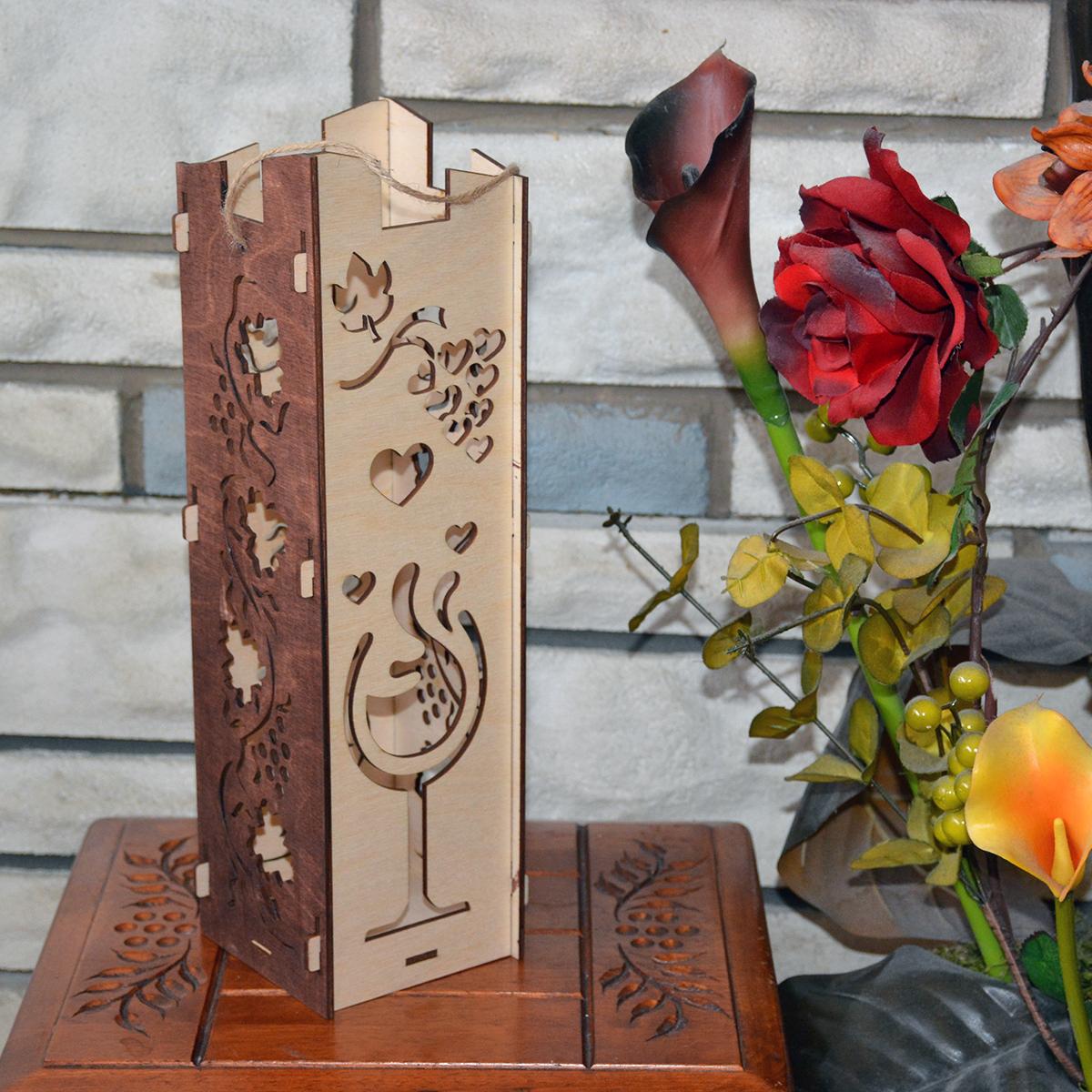 L2051--Hande Made Christmas Elegant Wine Box