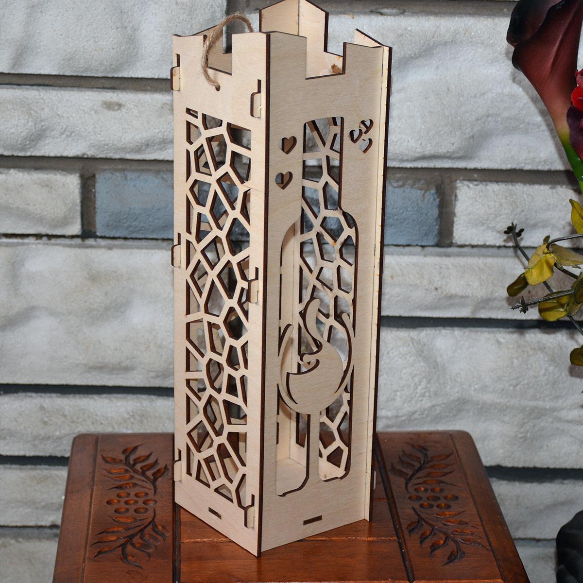 L2052--Hande Made Christmas Elegant Wine Box