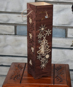 L2053--Hande Made Christmas Elegant Wine Box