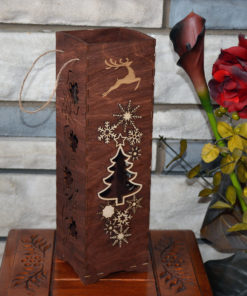 L2053B--Hande Made Christmas Elegant Wine Box