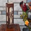 L2054--Hand Made Christmas Elegant Wine wood Laser Cut Box