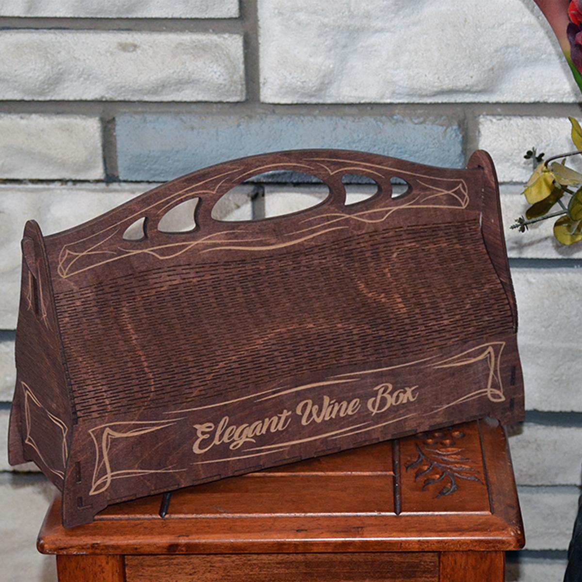 L2055--Hande Made Christmas Elegant Wine Box