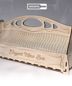 wood laser cut and engraving Elegante wine box