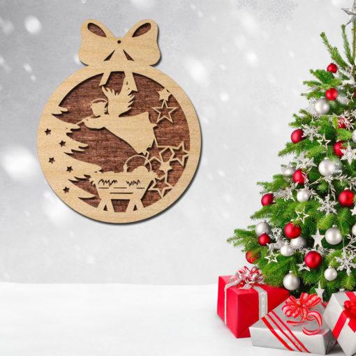 Laser-cut-set-Modern-wood-Decorative-Geometric-set--Unique-ornaments for christmas tree