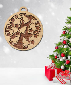 Laser-cut-set-Modern-wood-Decorative-Geometric-set--Unique-ornaments for christmas tree