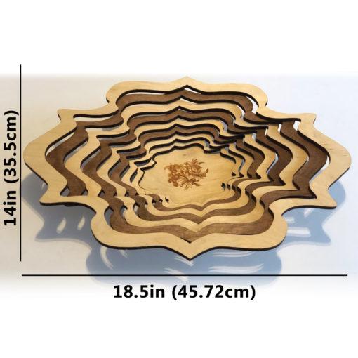 Wood Laser cut bowl Basket decoration