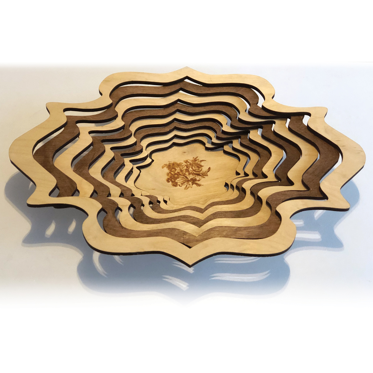Wood Laser cut bowl Basket decoration