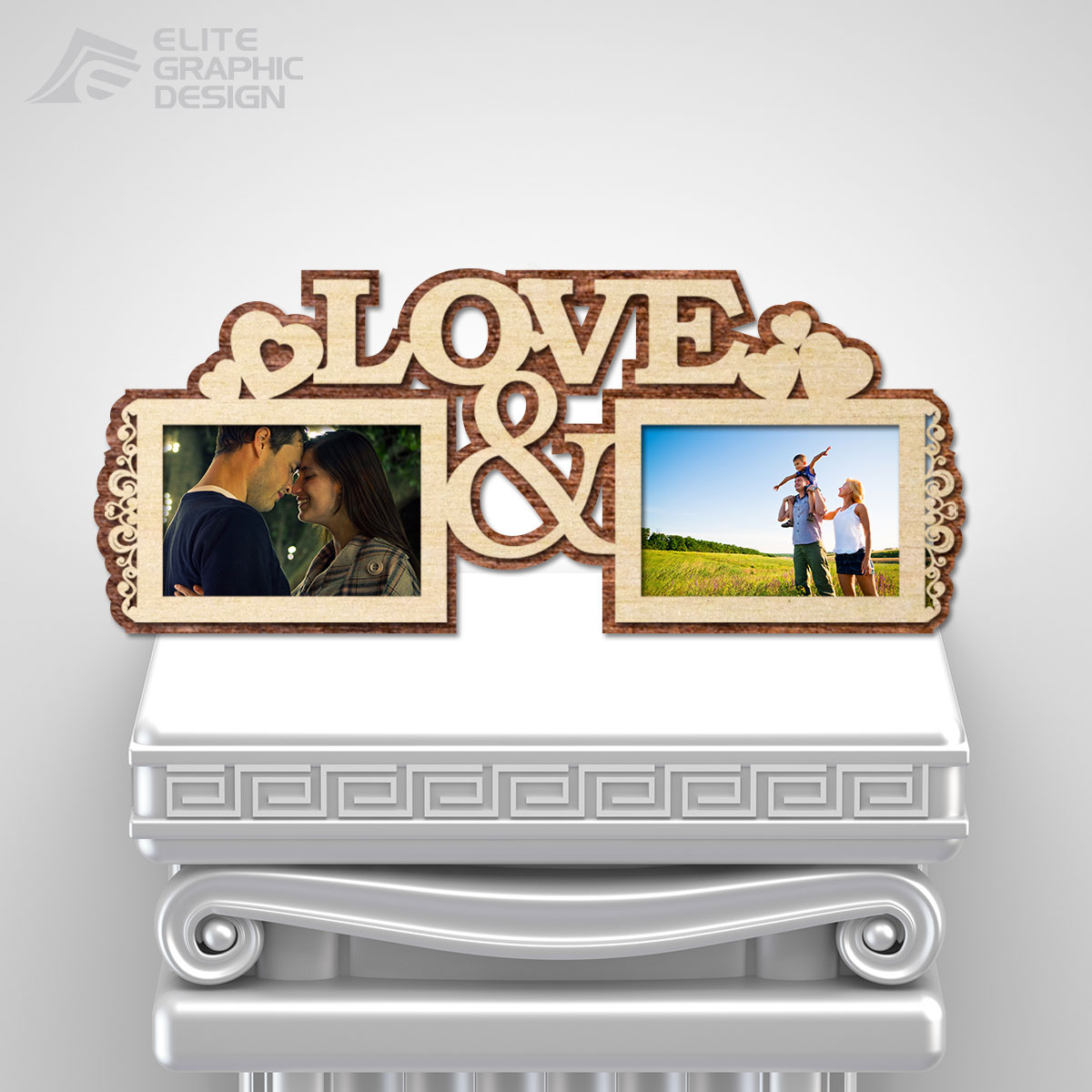 Personalized Wooden Photo Frames laser cut and engraving