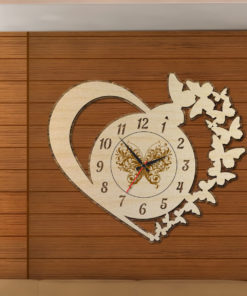 Wood Laser Cut Clock-Antique Oval Cercle Wall Clock A-510x510