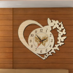 Wood Laser Cut Clock-Antique Oval Cercle Wall Clock A-510x510