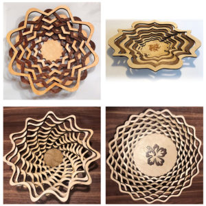 Wood Laser Cut Bowl laser cut and engraving