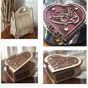 Wood Laser Cut Personalized Box Gift Decoration Flower
