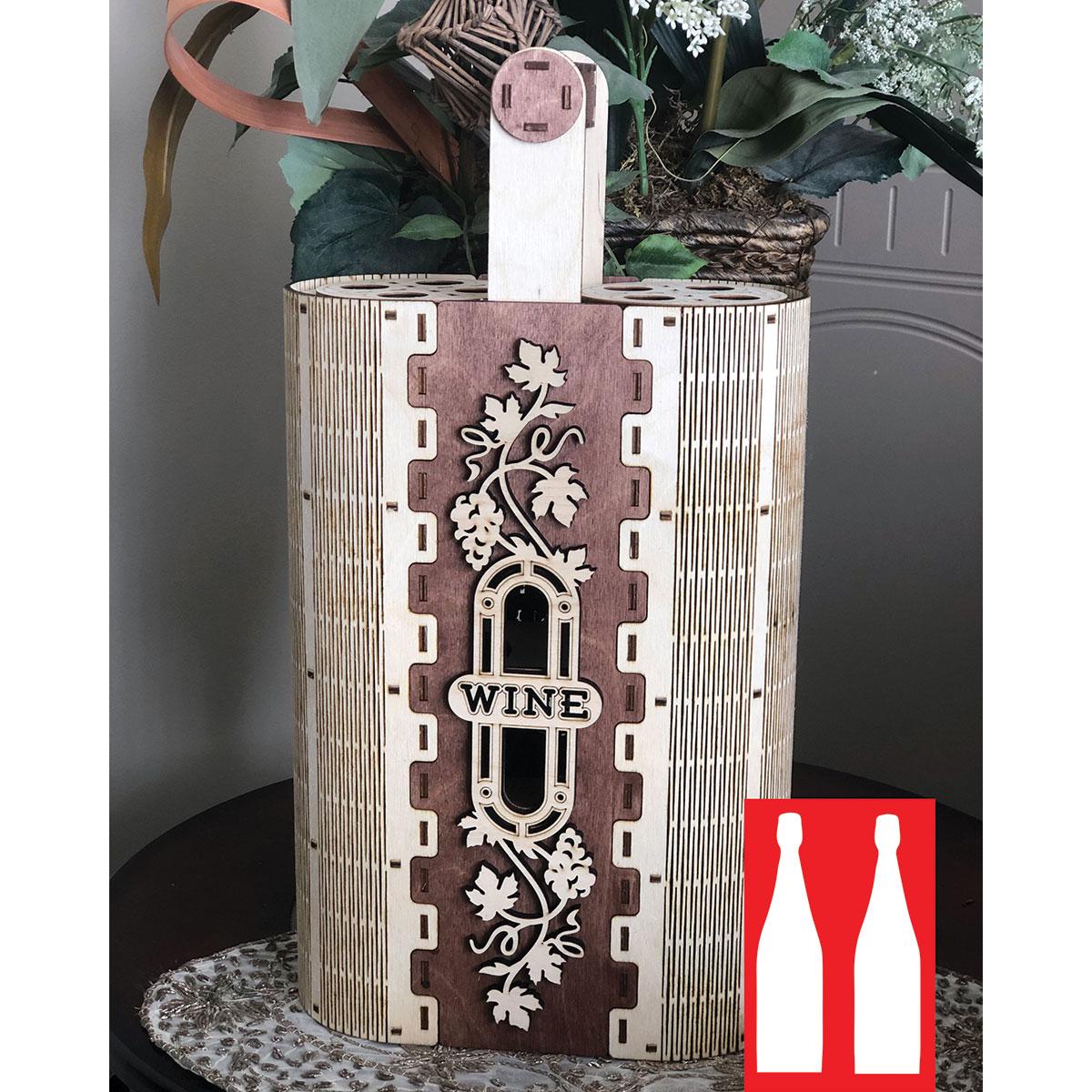 Hande Made Christmas Elegant Wine Box