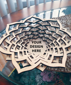 Wood Laser Cut Wooden Personalized Basket - Bowl Gift Decoration