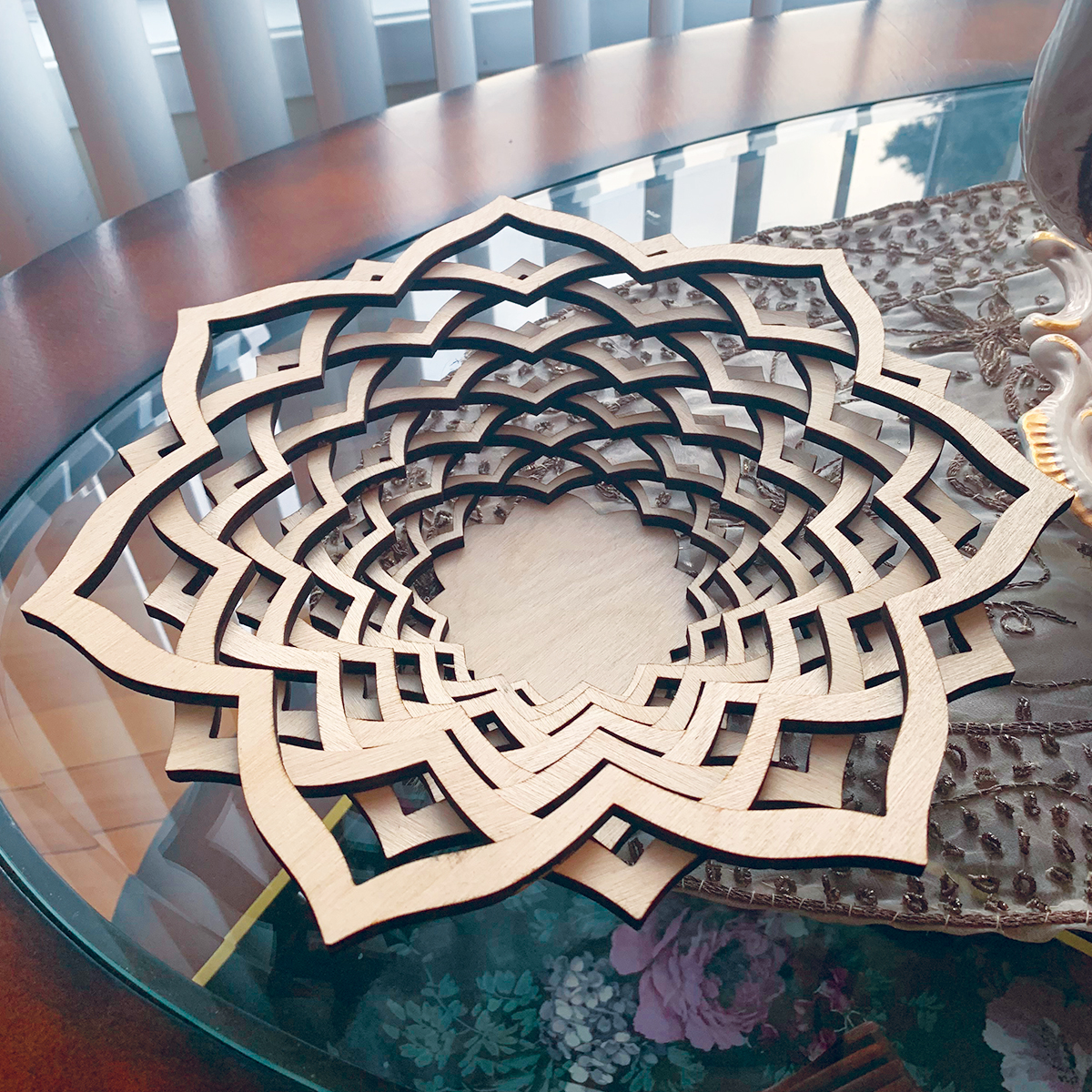Wood Laser Cut Personalized Basket - Bowl Gift Decoration