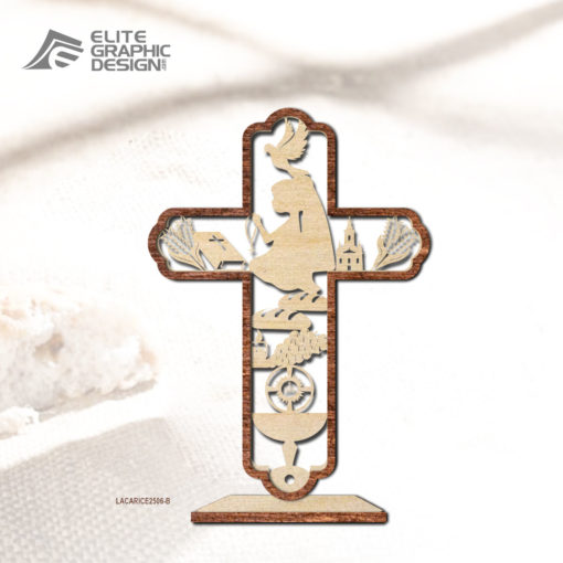 Wood Laser Cut Personalized Name Gift Decoration Communion