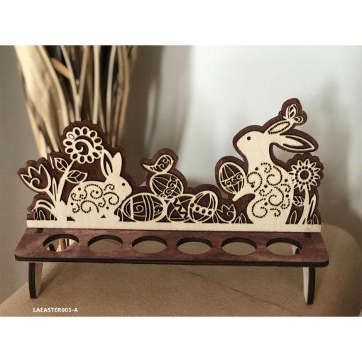 Wooden Easter Egg Stand - Basket Decoration Rabbit