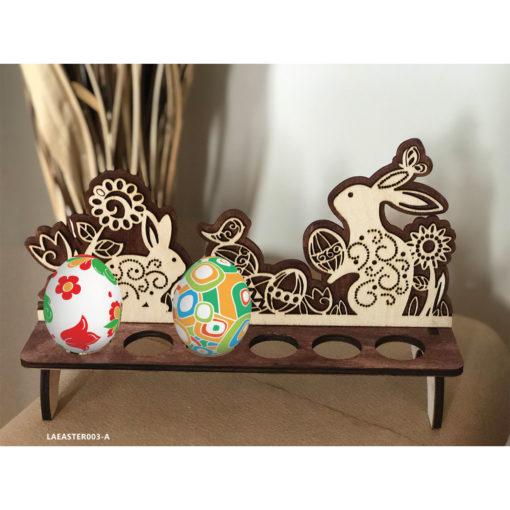 Wooden Easter Egg Stand - Basket Decoration