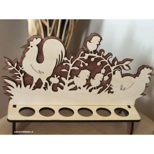 Wood Laser Cut Easter Egg Stand - Basket Decoration Rabbit