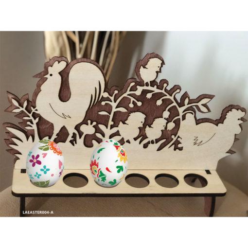Wood Laser Cut Easter Egg Stand - Basket Decoration