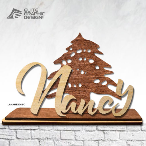 Wood Laser Cut Personalized Name Gift Decoration Cedar