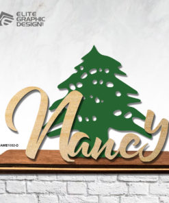 Wooden Personalized Name Gift Decoration Cedar