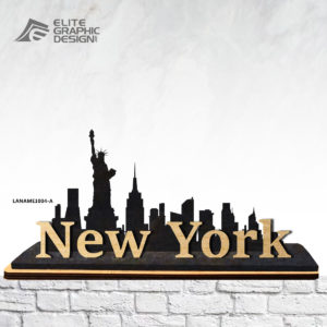 Wood Laser Cut Personalized Name Gift Decoration New York