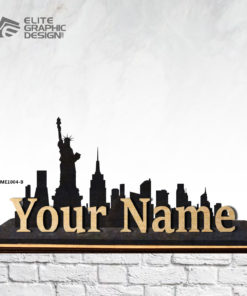 Wooden Personalized Name Gift Decoration New York