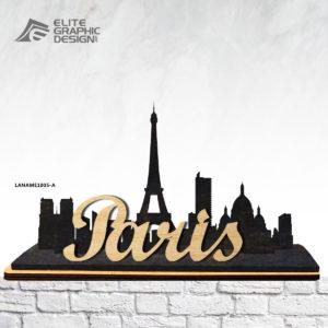 Wood Laser Cut Personalized Name Gift Decoration Paris