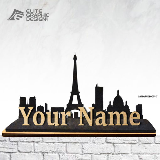 Wooden Personalized Name Gift Decoration Paris