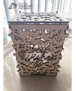 Boite En bois personnalisé - cadeau pour décoration mariage
