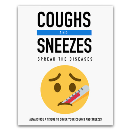 Covid-19 Health & Hygiene Decals Coughs and Sneezes