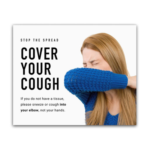 Covid-19 Health & Hygiene Decals Cover Your Cough