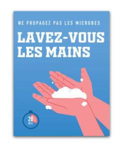 Autocollants sur la santé et l'hygiène Lavez vous les mains