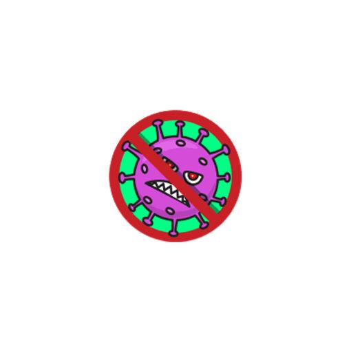 No-Virus Covid-19 Stickers