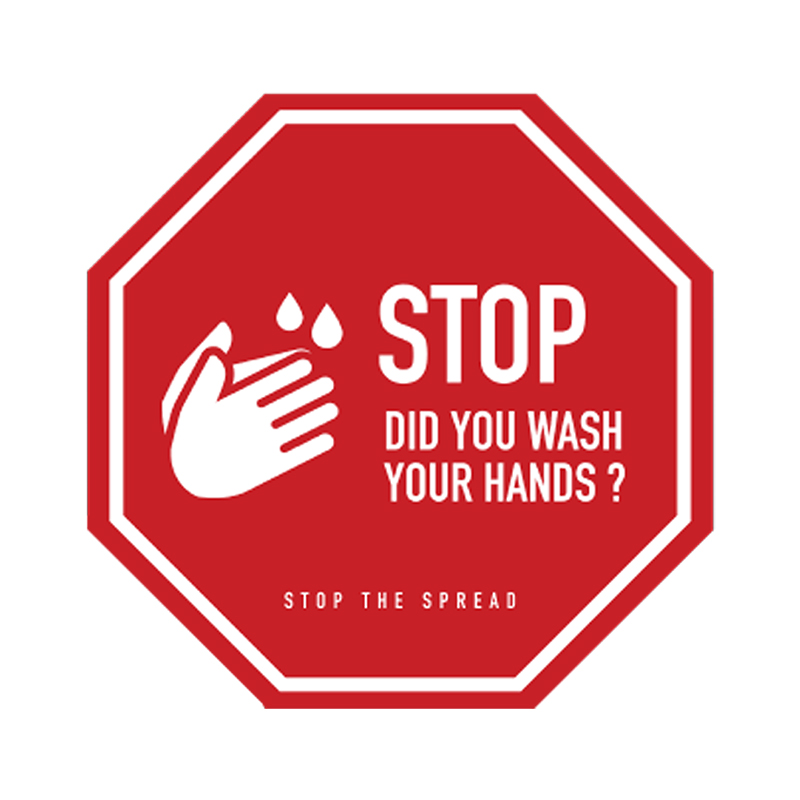 Covid-19 Health & Hygiene Decals Let's Stay SafeCovid-19 Health & Hygiene Decals Stop