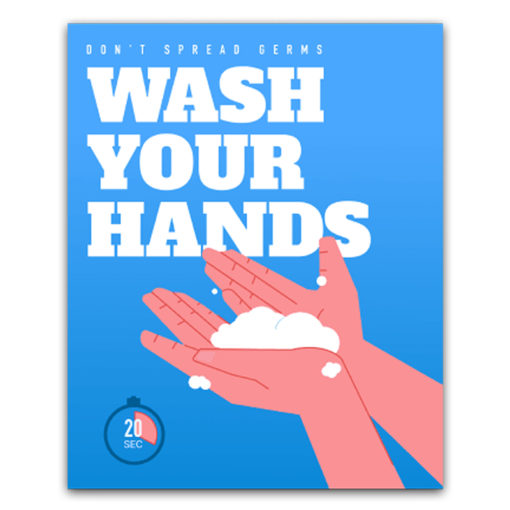 Covid-19 Health & Hygiene Decals Wash Your Hands