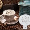 Flower Coffee Stencil